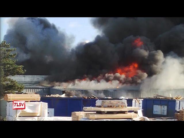 Luçon. L'usine Bio Habitat en partie détruite par un incendie