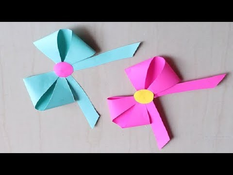 DIY -  How to make a paper Bow/Ribbon | Easy origami Bow/Ribbons for beginners making