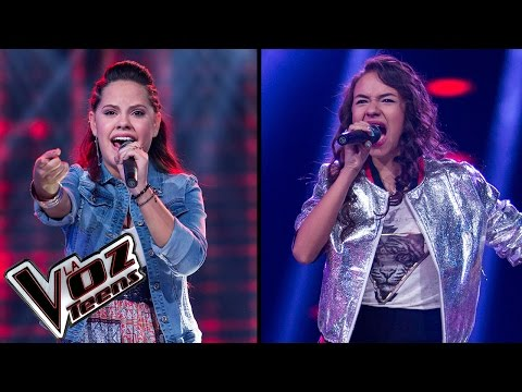 Estefany canta 'Yo viviré' y Andra canta 'Si tú eres mi hombre' | Súper Batallas| La Voz Teens