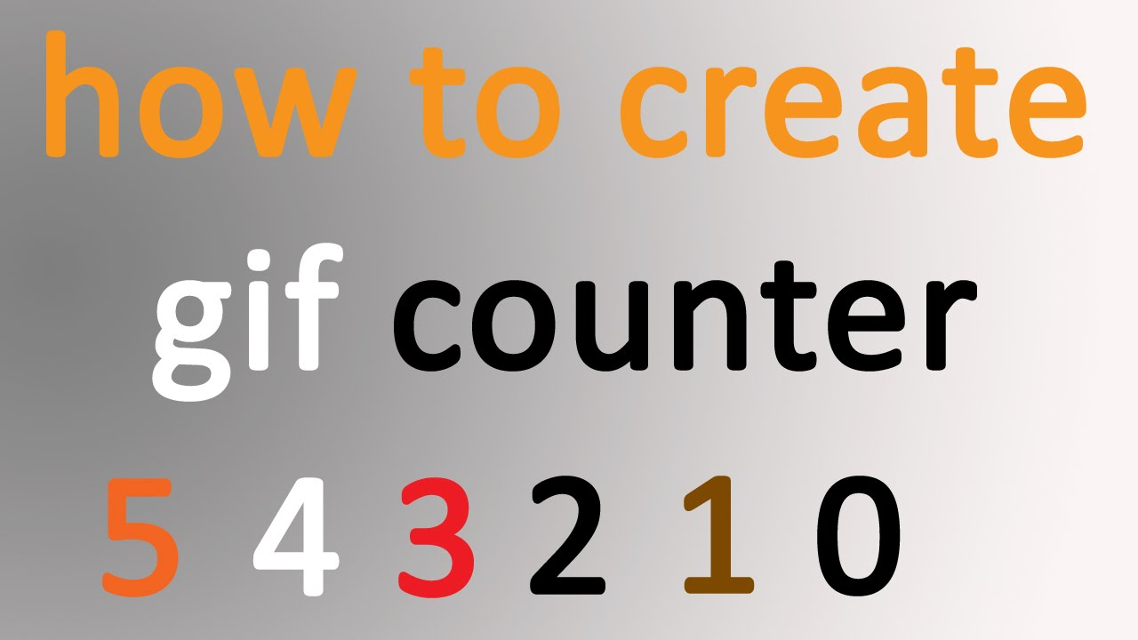 create gif counter in Photoshop easy way- counter for powerpoint
