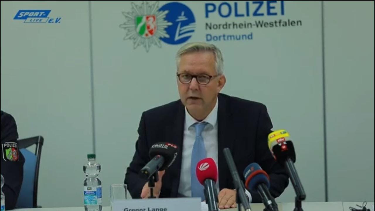 Pressekonferenz der Polizei Dortmund nach den Ausschreitungen beim BVB-Spiel gegen Hertha BSC