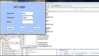 Login and register from txt file using java | fun with java #1