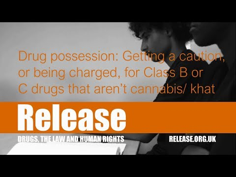 Drug Possession: Getting a Caution or Being Charged for Class B/C Drugs that Aren't Cannabis/Khat