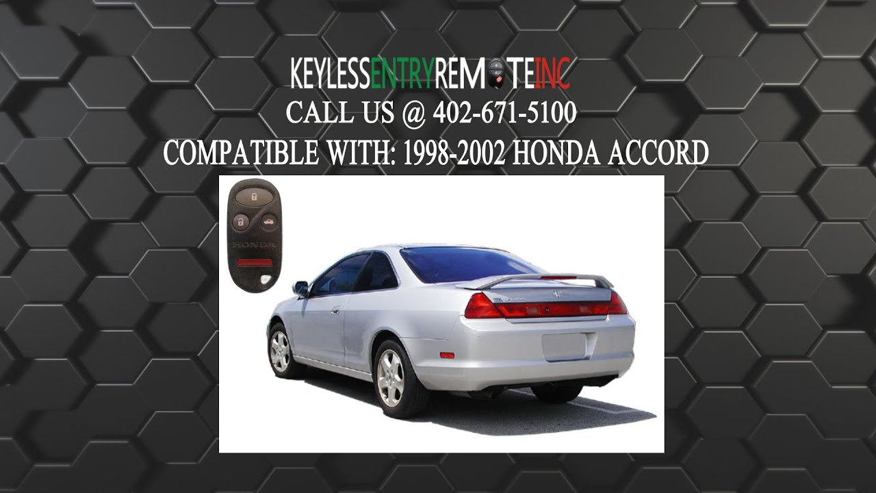 How to replace honda accord key fob battery 1998 1999 2000 2001 2002 youtube