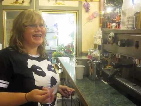 Making Coffee at San Juan Florist & Sweet Shop in Friday Harbor on San Juan Island
