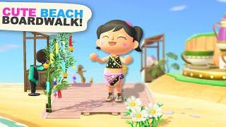 Creating a Beach BOARDWALK in Animal Crossing New Horizons
