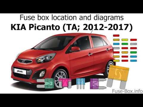 2014 kia rio fuse box fuse box location and diagrams kia picanto  ta  2012 2017  youtube  fuse box location and diagrams kia
