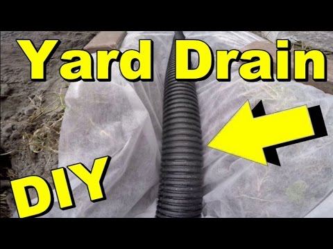 Yard Drain French Drain Gravel Collects Subsurface Water