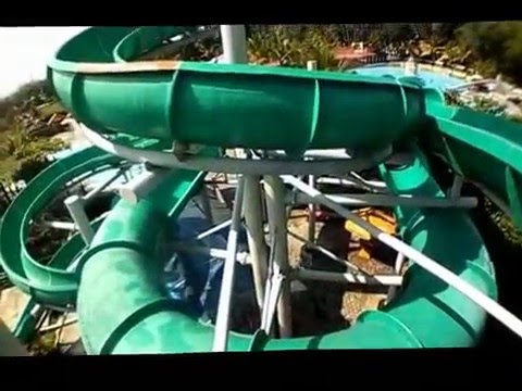 Video kepanikan di water slide coaster wisata air owabong purbalingga