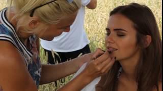 Бэйкстейдж, модель Ксения Дели, съемки в клипе
