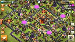 Clash of clans | maxed th9 | war attack | 3 star | GOWIHO |how to get 3 star on maxd th9 war base