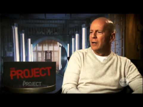 Jai Courtney & Bruce Willis interview - The Project - A Good Day to Die Hard (2013)