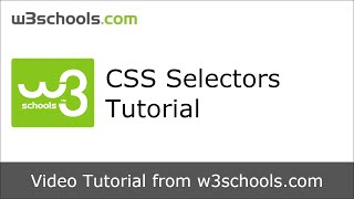 w3schools css selectors tutorial