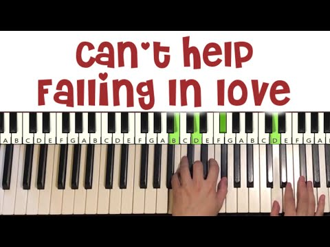 Can't Help Falling In Love (Piano Tutorial Lesson)