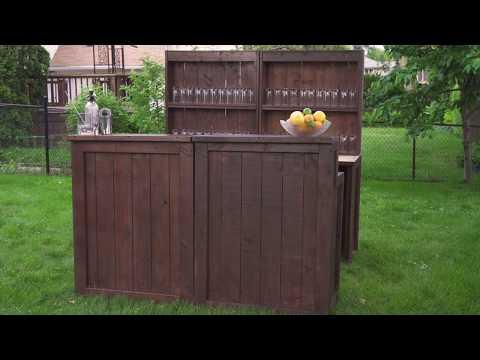 Portable Wooden Bar