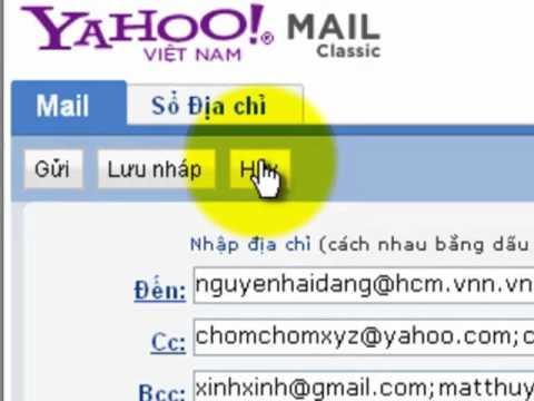 Hướng Dẫn Gửi Thư Trong Yahoo