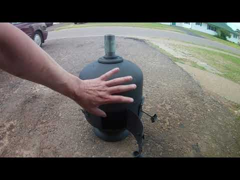 Propane Tank Stove no weld build easy way video