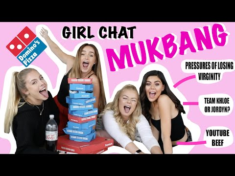 GIRL CHATS Ft LUCY FLIGHT & EMILY CANHAM - MUKBANG | Syd & Ell