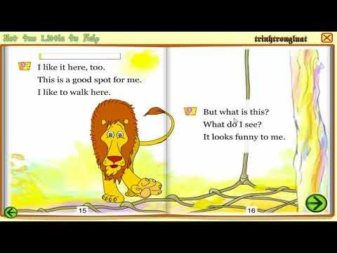 Learning English through short stories 36 ||Not too little to help (Sư tử và chuột nhắt)