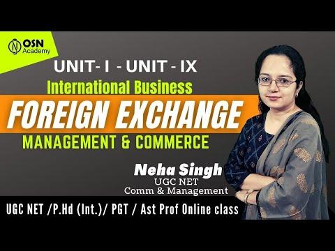 🔴Live - UGC Net | International Business Foreign Exchange | Commerce & Management | Unit I & Unit IX