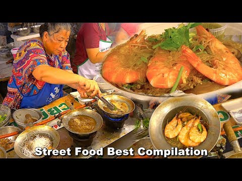 Street Food Best Compilation - King River Prawns Hot pot, Oyster Egg, Best Barramundi Fish Ep11