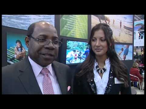 Edmund Bartlett, Minister for Tourism, Jamaica and Miss Jamaica @ WTM 2009