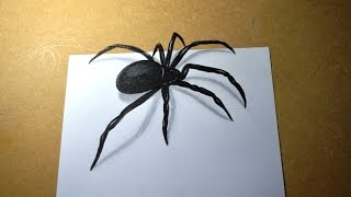 Desenho de Aranha em 3D - 3D Spider Design