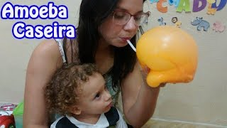 Amoeba Caseira - diy slime