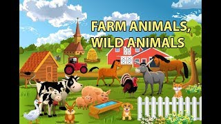 Farm Animals, Wild Animals Names and Sounds for kids