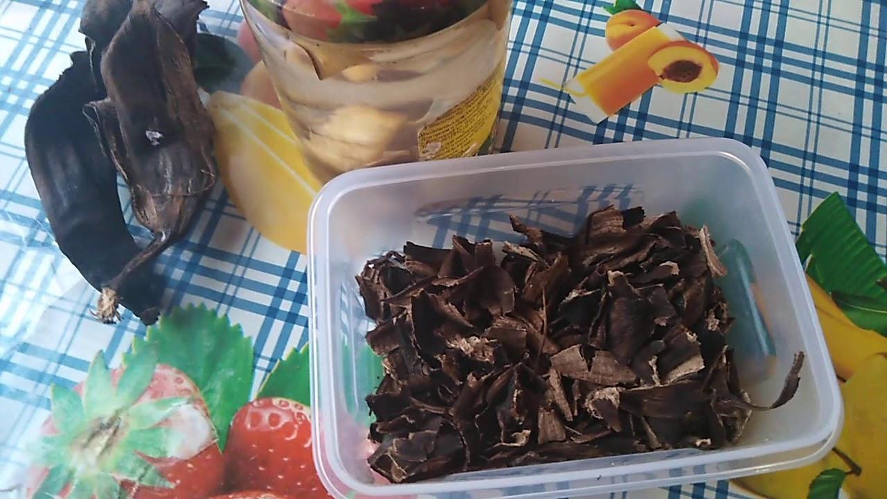 полив рассады банановыми шкурками