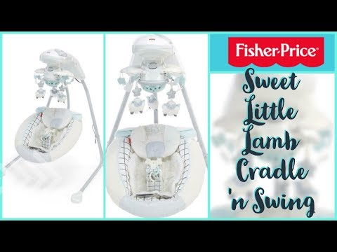 Fisher-Price Sweet Little Lamb Cradle 'n Swing - Unboxing And Demo