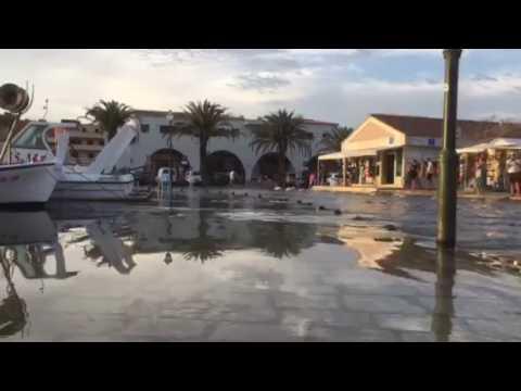 Flooding in Stari Grad Hvar Croatia