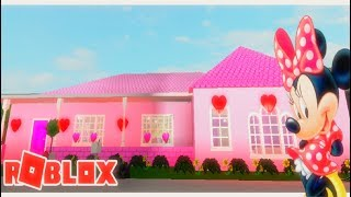 I create Minnie Mouse's house in roblox 😱I Roblox Bloxburg I Rebeccas Creations