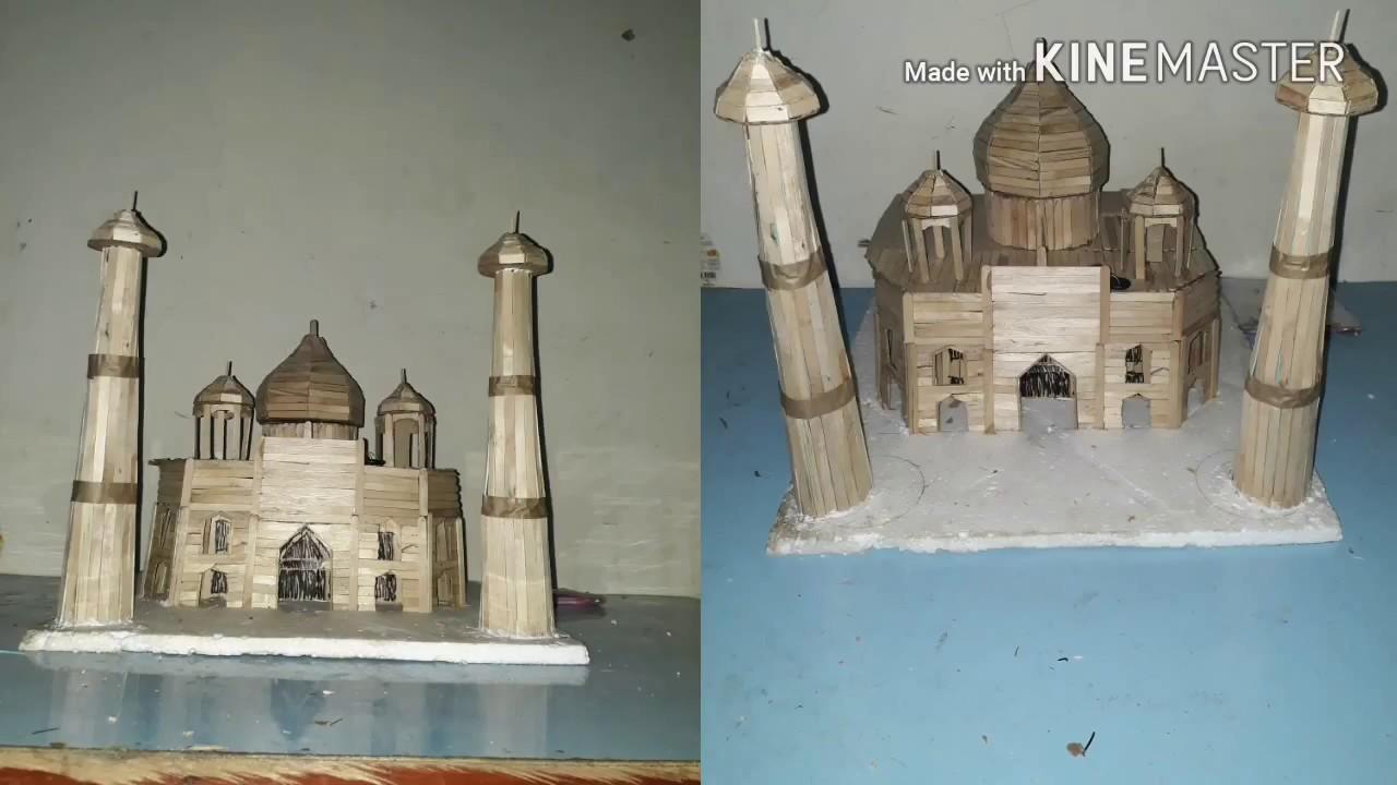 Cara Membuat Miniatur Masjid Dengan Stik Es Cream