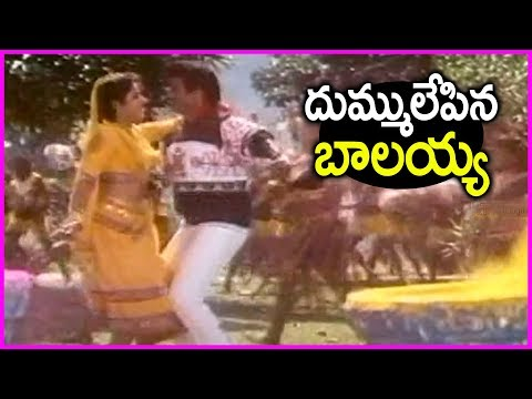 Balakrishna Super Hit Mass Song With Divya Bharti - Are Inka Jinka | Dharma Kshetram Video Songs
