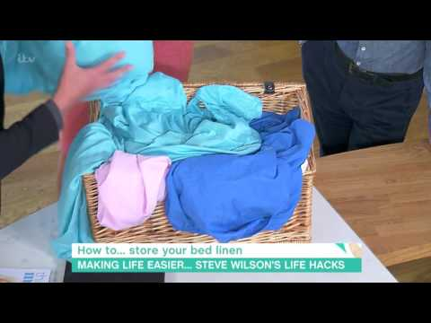 Life Hack - Storing Bed Linen | This Morning