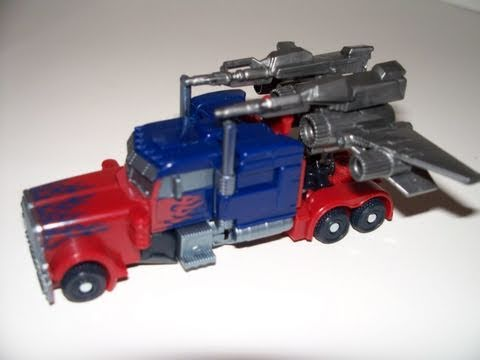 TRANSFORMERS 3 DOTM CYBERVERSE OPTIMUS PRIME MOVIE PREVIEW PACK ACTION FIGURE TOY REVIEW