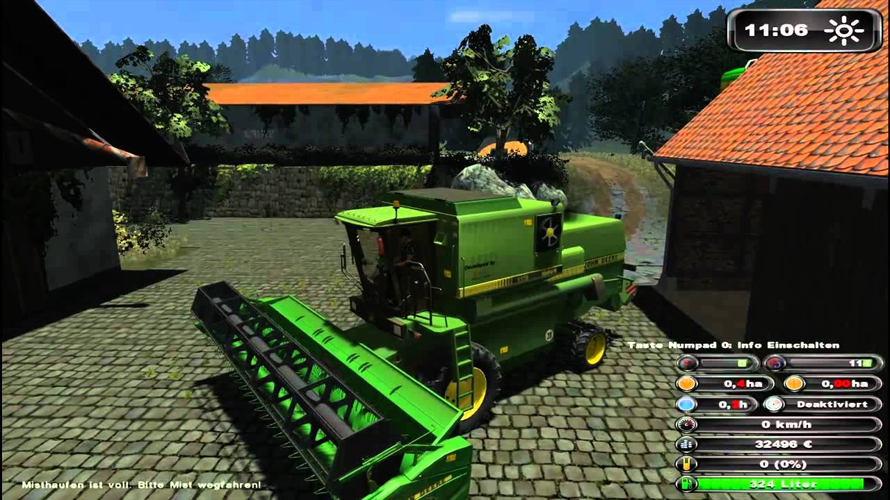 Landwirschafts Simulator 2011 - John Deere 1175 Hydro 4 - YouTube