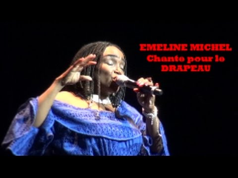 EMELINE  MICHEL CHANTE POUR LE DRAPEAU @ MIRAMAR CULTURAL CENTER, FLORIDA