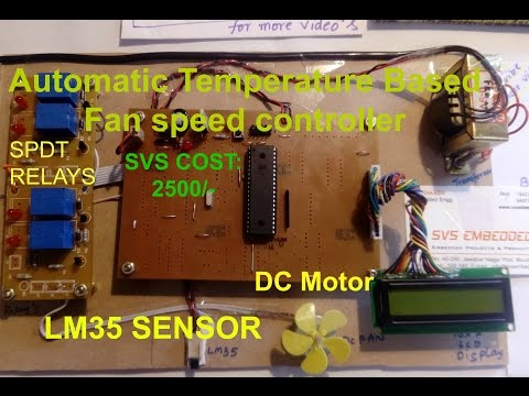Automatic Temperature Based Fan speed controller