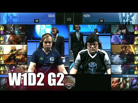 H2K Gaming vs FC Schalke 04 | Game 2 S6 EU LCS Summer 2016 Week 1 Day 2 | H2K vs S04 G2 W1D2
