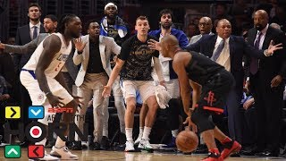 Is Rockets-Clippers scuffle sign of strained NBA players-refs relationship? | Around the Horn | ESPN