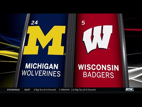 Michigan at Wisconsin - Football Highlights