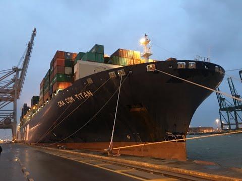 Frachtschiffreise Februar 2016 CMA CGM TITAN