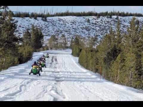 Snowmobiling In Yellowstone National Park