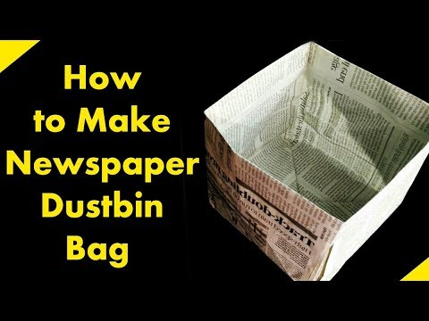 How to make news paper Dustbin bag easy    #sharmajitube