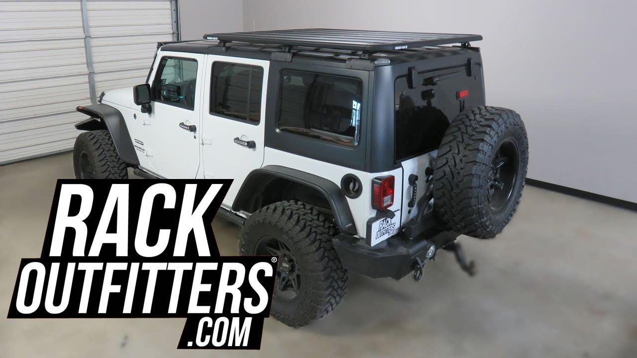 rhino rack pioneer platform backbone system for 2011 to 2017 jeep wrangler unlimited