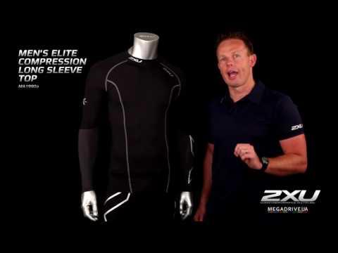 Мужская компрессионная элитная футболка с длинным рукавом 2XU MA1990a