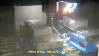 Johnford SV-40 Balancer Frame Heavy Milling Demonstration