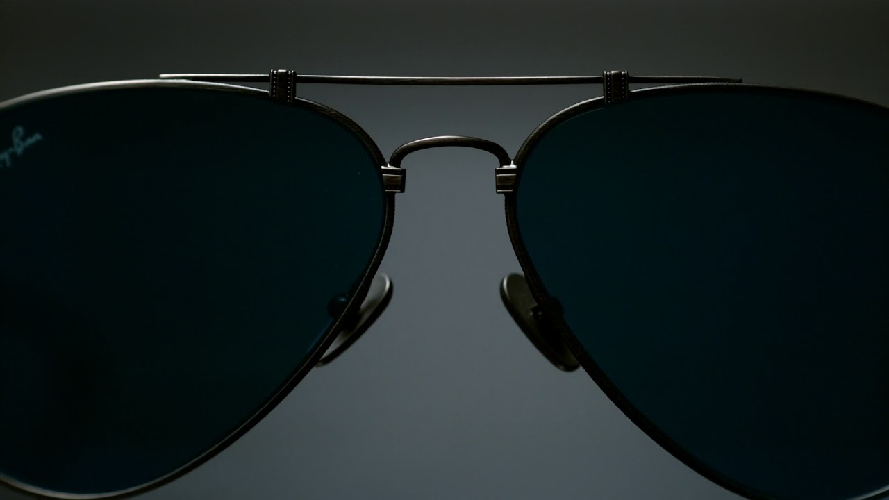 9c6b353262 Ray-Ban TITANIUM MADE IN JAPAN - YouTube
